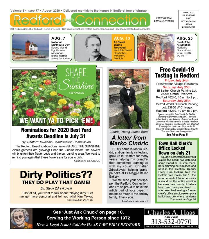 August 2020 Redford Connection Page 1 (1)