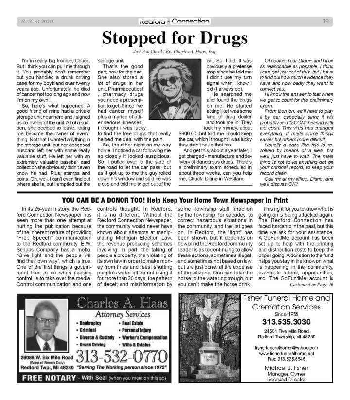 August 2020 Redford Connection Page 19