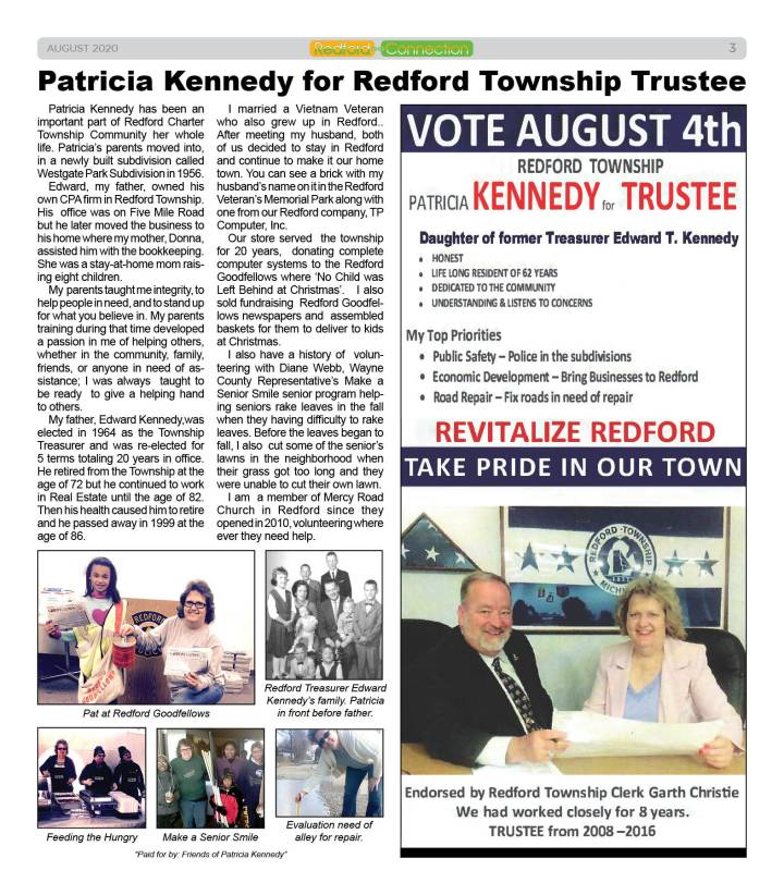 August 2020 Redford Connection Page 3