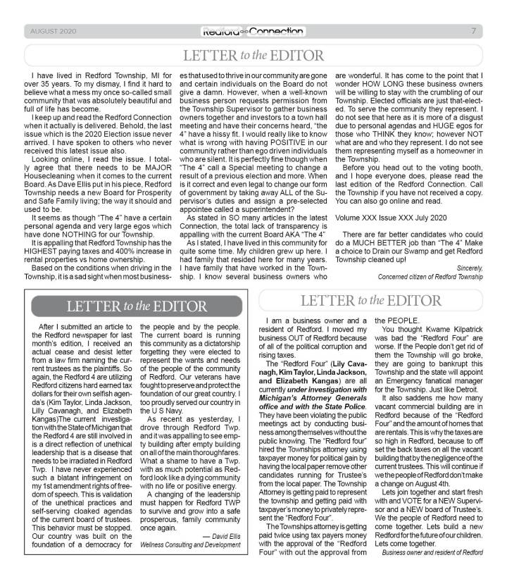 August 2020 Redford Connection Page 7